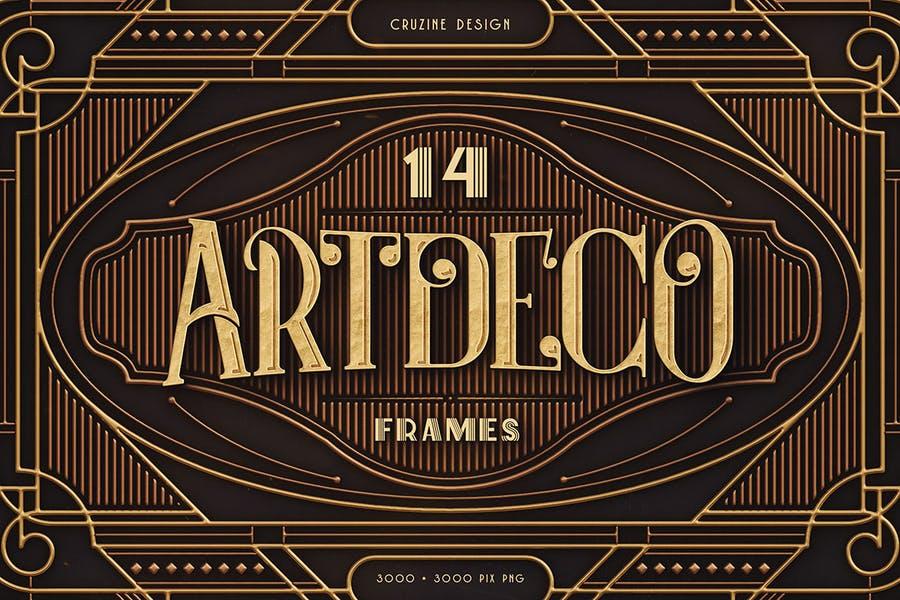 14 Artdeco Background Designs