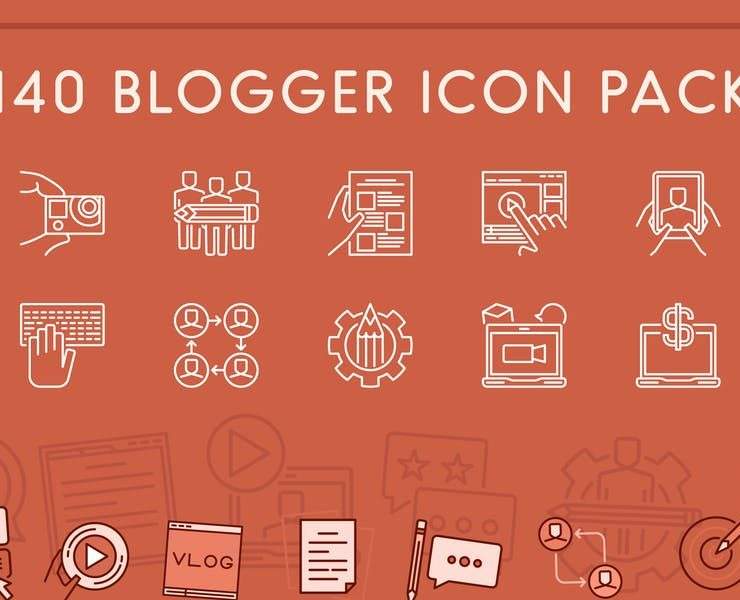 15+ FREE Blog Icons Download SVG   PNG   Ai