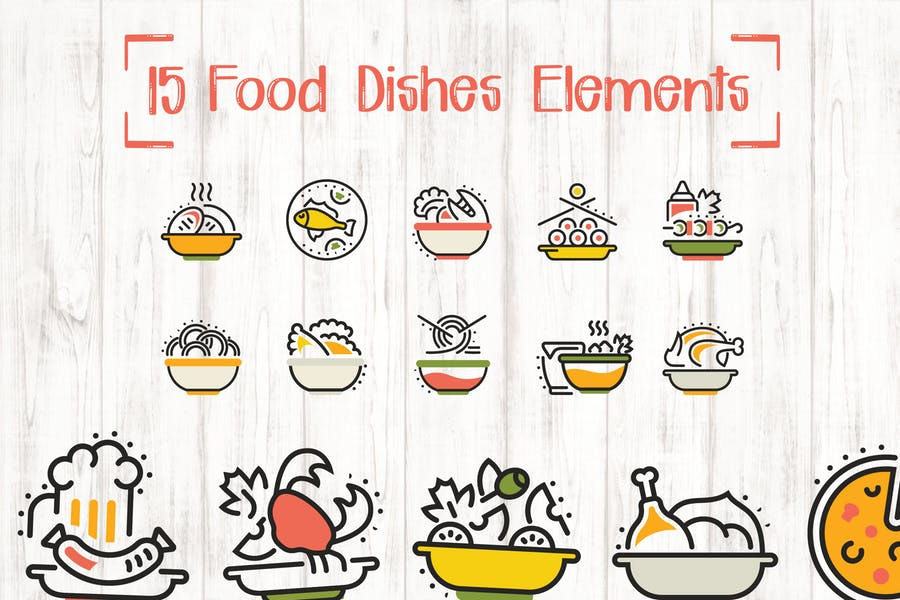 15 Creative Food Dishes Elements