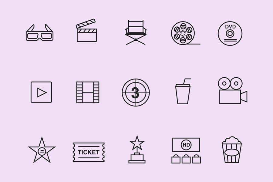 15 Unique Video Icon Set