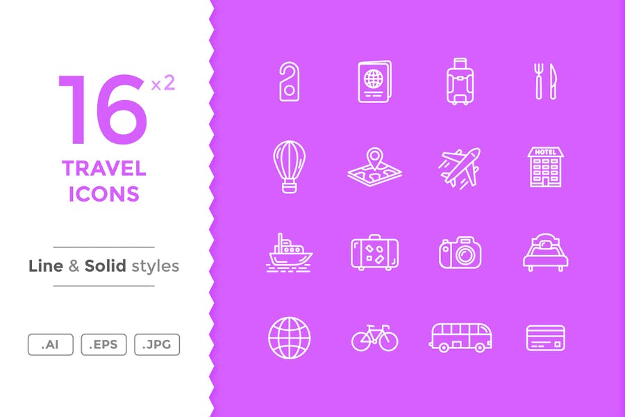 16 Unique Travel Themed Vectors