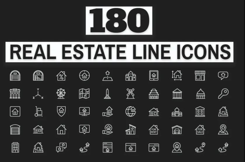 180 Office and Property Icons