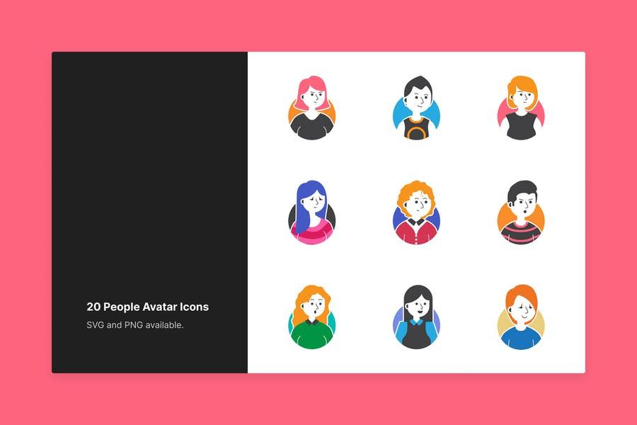 20 Unique Avtar Icons