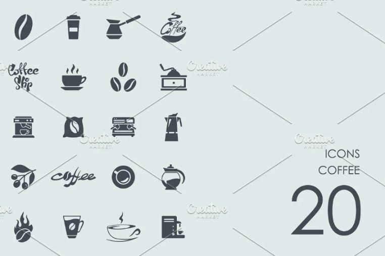 20 Unique Coffee Store Icons