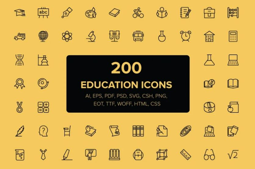18+ FREE Educational Icons Vector Download