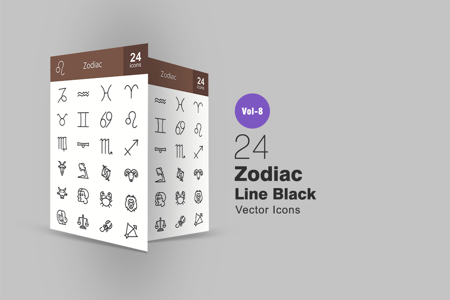 24 Line Style Icon Set