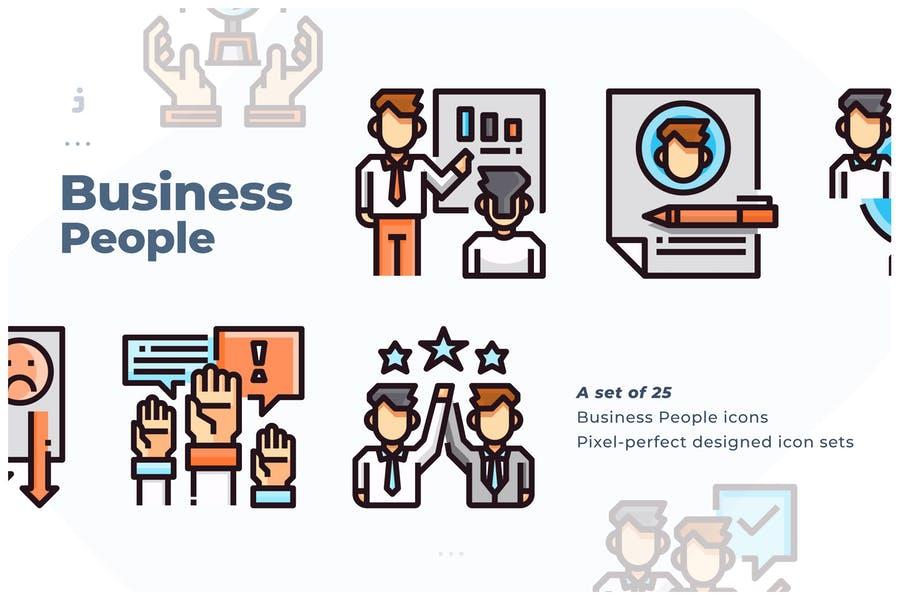25 Unique Business People Icons