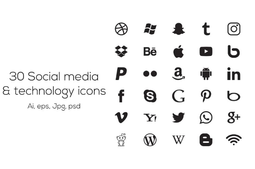 30 Technology icons