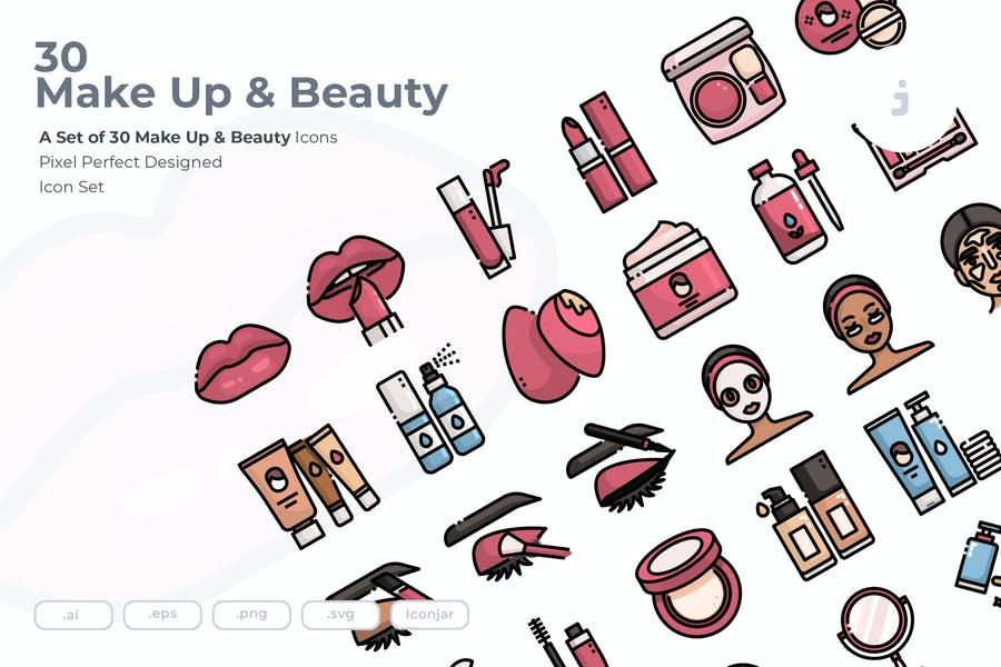 30 Unique Makeup Icons
