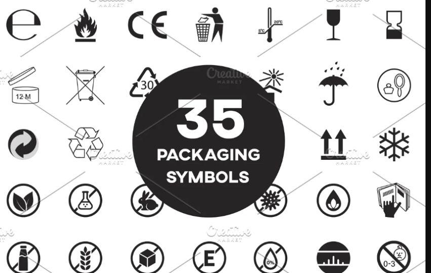 35 Packaging Symbols Set