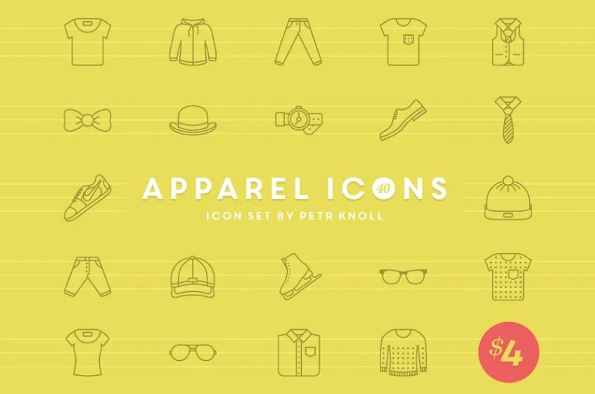 40 Unique Apparel Icons