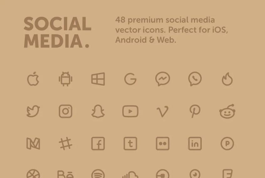 48 Premium Icons Set