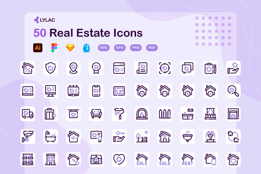 50 Dotted Real Estate Objects