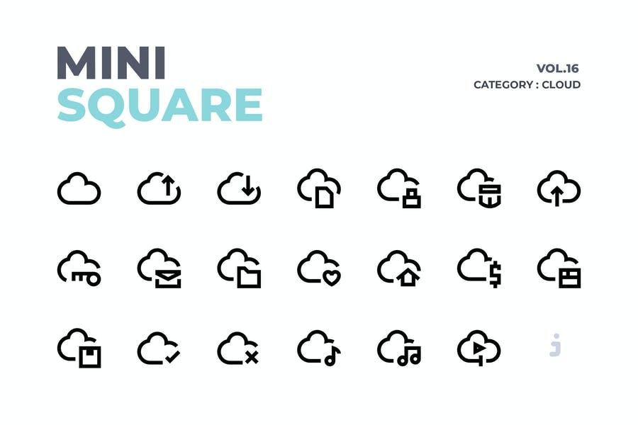 50 Mini Square Icons Pack