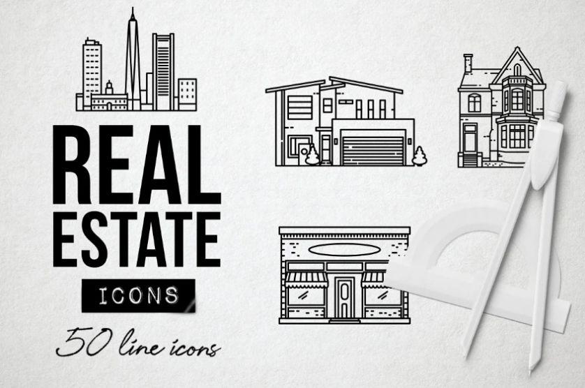 50 Property Icons Set