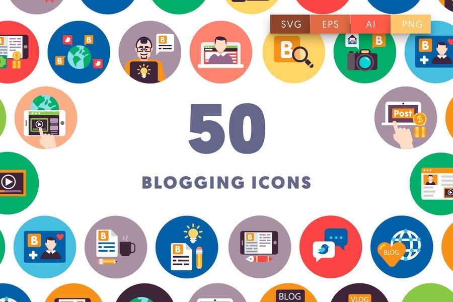 50 Unique Blogging Icons