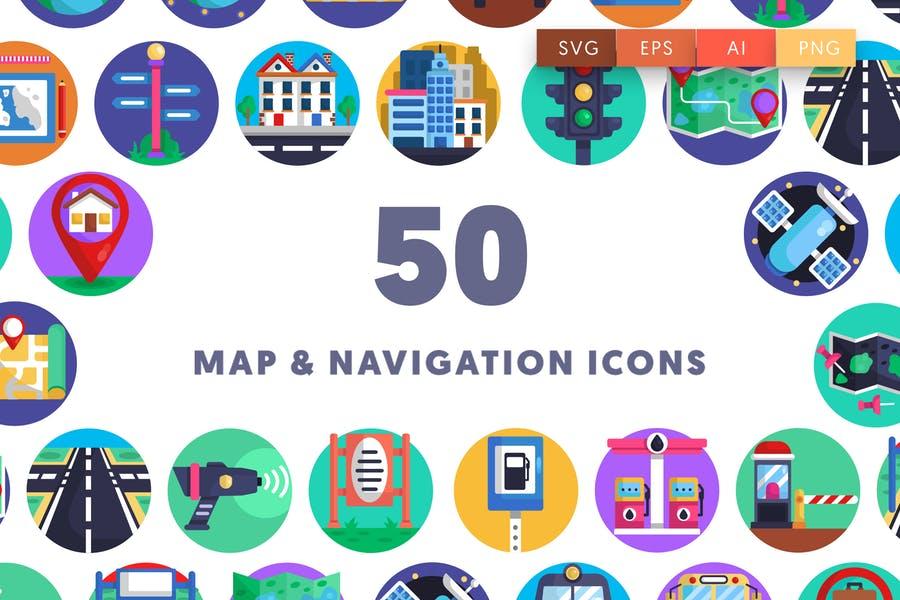 50 Unique Map Icons Pack