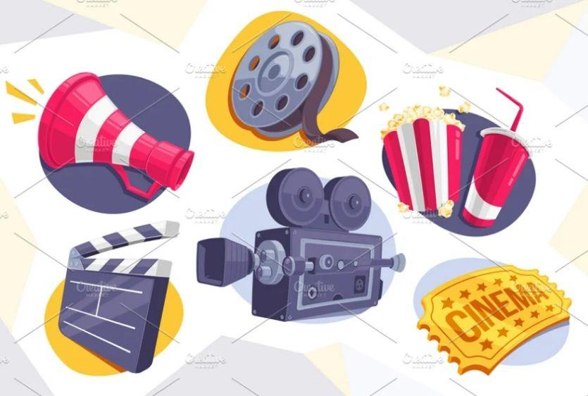 6 Movie Icons Set