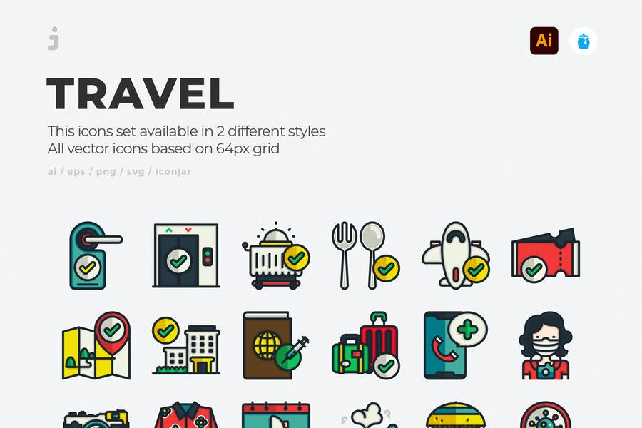 60 Unique Travel Vector Elements