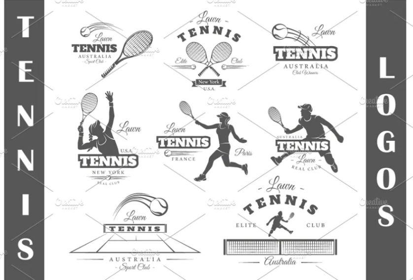 8 Unique Tennis Logo Templates