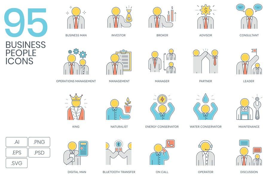 95 Buisiness Icons Set