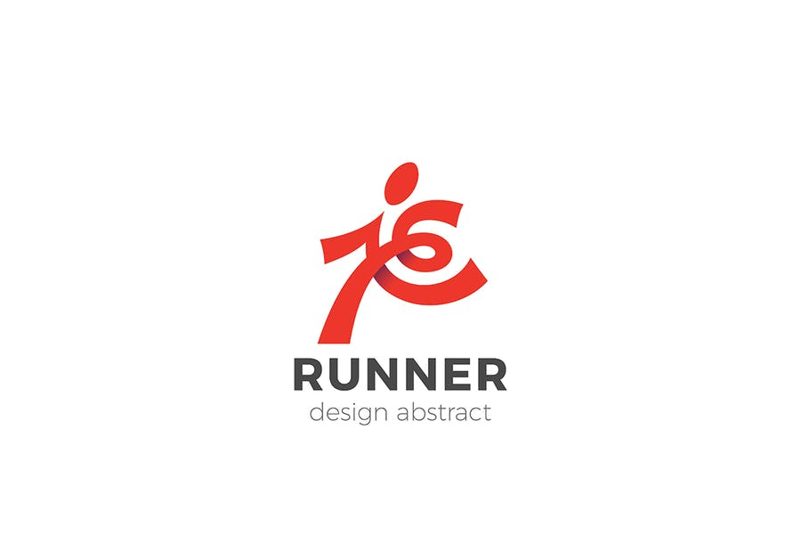 Abstract Deliver Person Logo