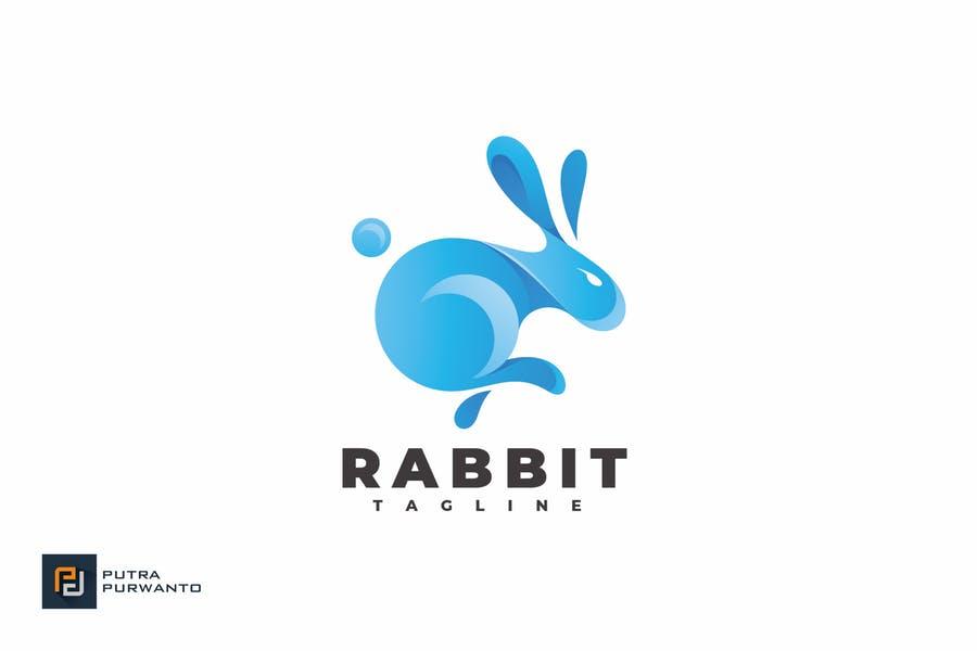 Abstract Rabbit Identity Design