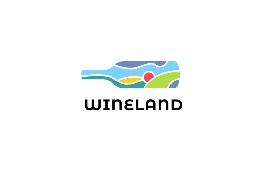 Abstract Wine Logo Designs