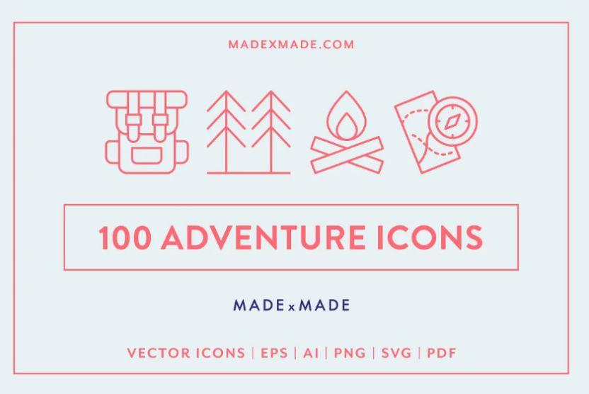 Adventure Icon Illustration Design