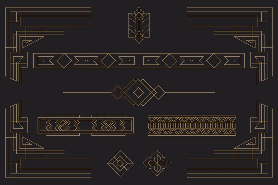 Art Deco Border Designs