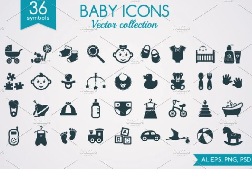 Baby Clothes and Toys Illustrations