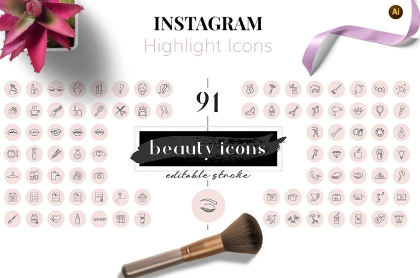 Beauty Icons for Instagram