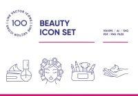 Beauty Icon Set