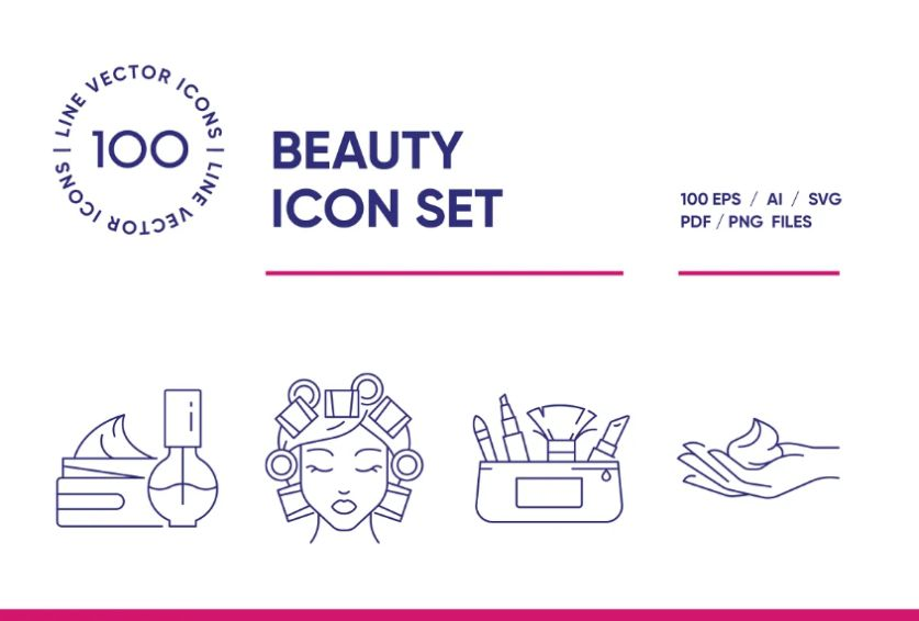 18+ FREE Beauty Icons Download EPS | Ai | PNG