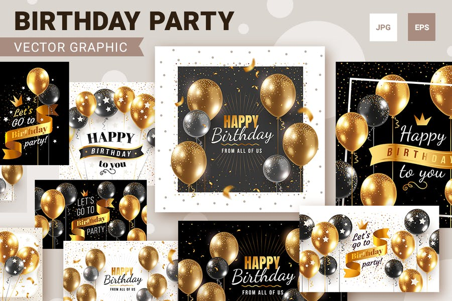Birthday Party Graphic Vector