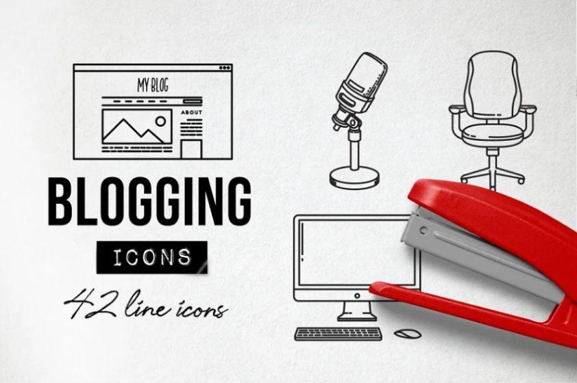 Blogging Social Media Icons