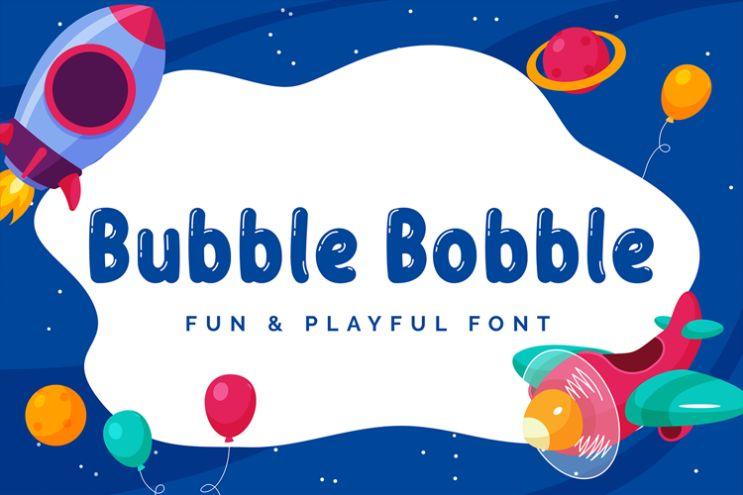 Bubble Style Playful Fonts