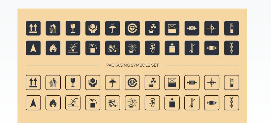 Cardboard Symbols Set
