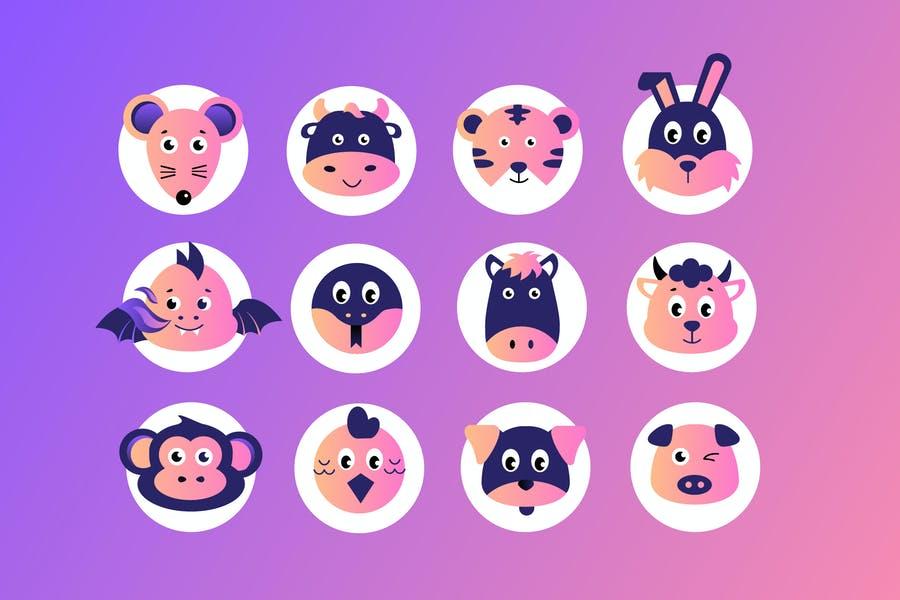 Chineese Zodiac Icons