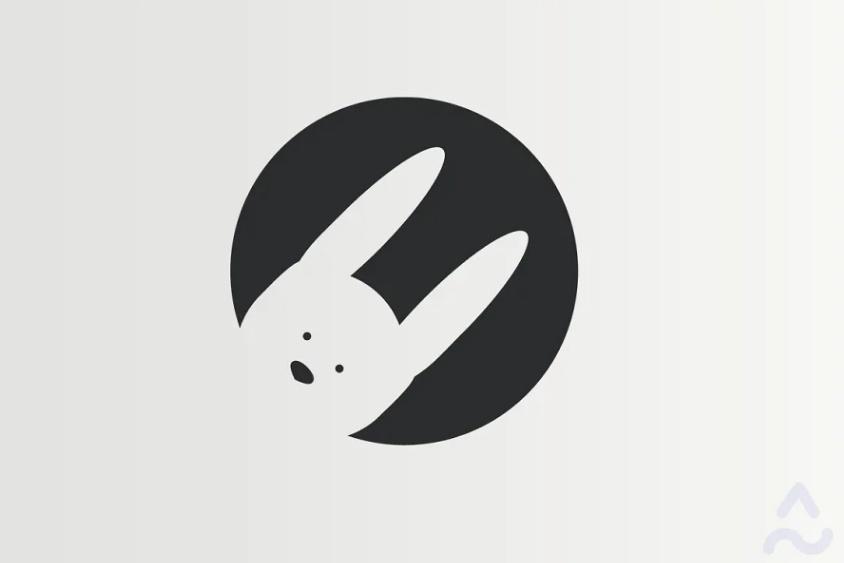 Circular Bunny Logo Design