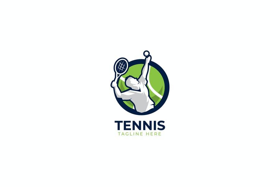 Circular Tennis Logo Design