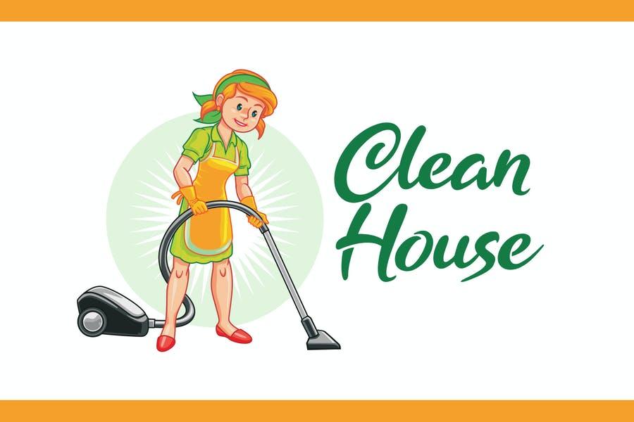 Clean House Mascot Logo