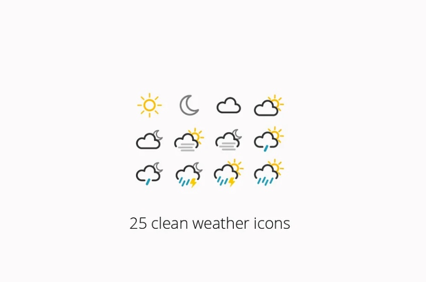 Clean Weather Icons