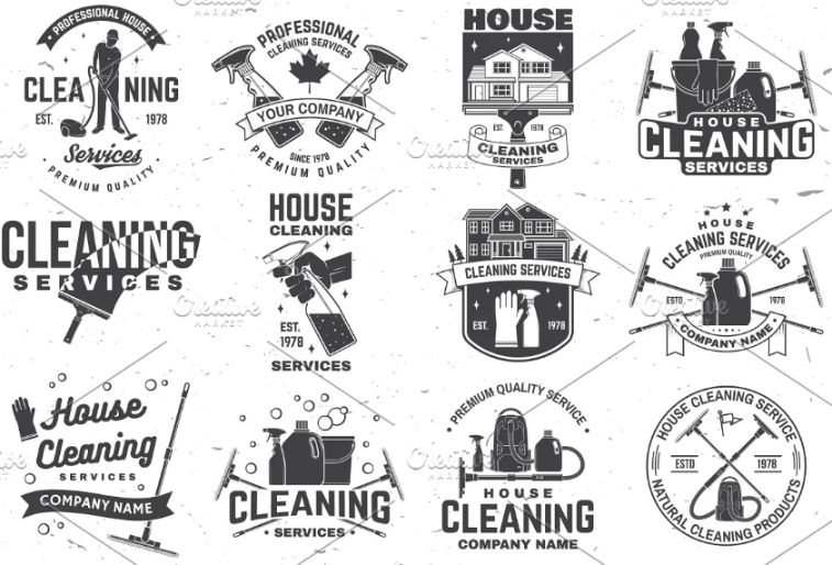 Cleaning Company Badges Design