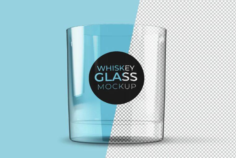 Clear Drink Glass Mockup