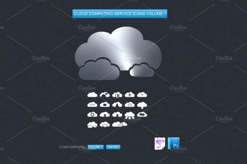 Cloud Computing Services Icons