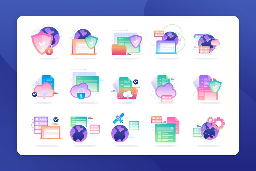 Cloud Data Illustration Objects