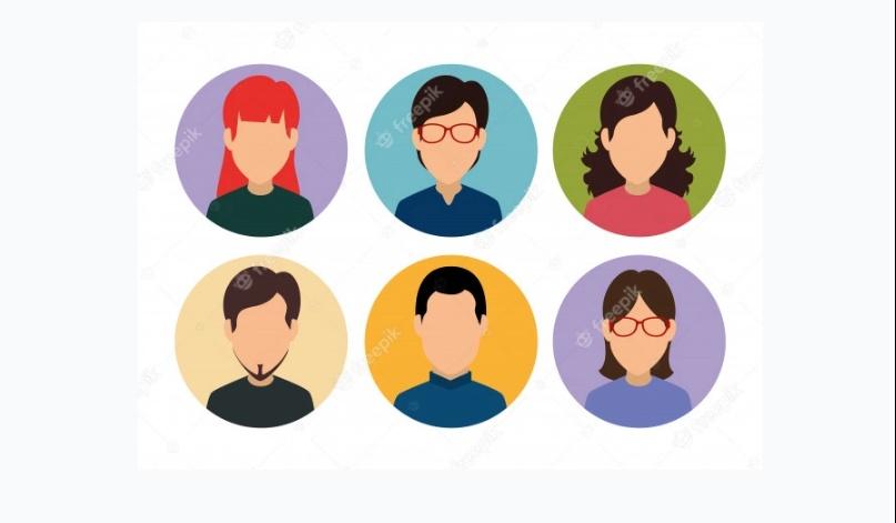 Colorful Profile Icons Set