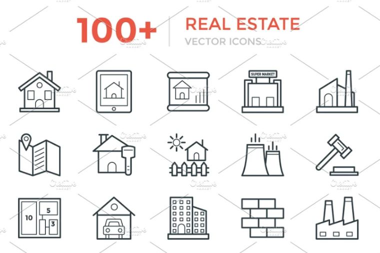 Cool Real Estate Vector Icons
