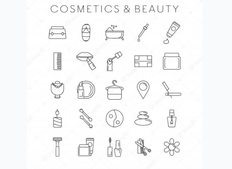 Cosmetics Beauty Icons